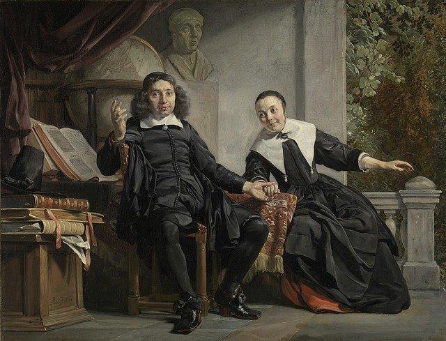 obraz muže a ženy z historie