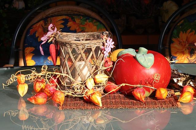 podzimní dekorace s dýní