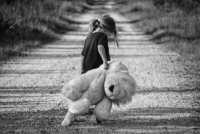 holčička s plyšákem