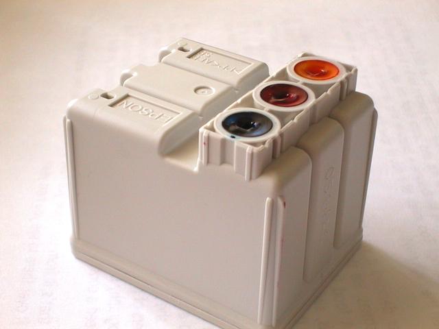 inkoustové nádržky na barvu do tiskárny